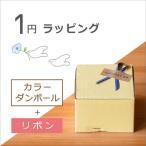 1円ラッピング 箱:カラーダンボール箱 包装紙:なし