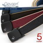 期間限定セール/GEVAERT ゲバルト 軽量バックル 35mm 無地 テープベルト 布ベルト メンズ レディース 男女兼用