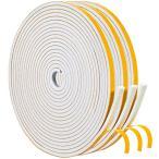 すきまテープ 戸当たりテープ 消音 衝突防止 防水 ドアや窓の隙間に最適 白い6mm (幅) x 3mm (厚さ) x 4.5m(長さ) x 3本白い