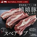 バーベキュー BBQ 肉 豚肉 スペアリブ(骨付きバラ肉)嬉嬉豚 (1本約200g)