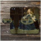 iPhone8Plus ケース iPhone7Plus スマホケース 手帳型 全機種対応 ケース ディエゴ ベラスケス 青いドレスのマルガリータ王女
