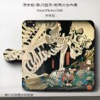 iPhone8Plus ケース iPhone7Plus スマホケース 手帳型 絵画 全機種対応 ケース 人気 ケース 浮世絵 歌川国芳 相馬の古内裏