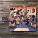 IPhone11Pro ケース エイスース スマホケース 全機種対応 手帳型 絵画 ケース 人気 あいふぉん ケース 丈夫 耐衝撃 歌川国芳 そめいろづくし