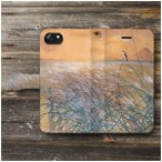 iPhone11 ケース Huawei スマホケース 手帳型 あいふぉん 絵画 全機種対応 ケース 人気 ケース 丈夫 耐衝撃 菱田春草 武蔵野