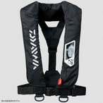 フローティングベスト ダイワ DF-2007 ウォッシャブルライフジャケット(肩掛けタイプ手動・自動膨脹式) フリー ブラック
