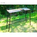 アウトドアテーブル NATURE TONES The Kitchen Counter Table+オプションセット ダークブラウン