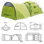 テント D.O.D ビッグストレージワンタッチテント 大型前室 3人用キャンプテント ライムグリーン