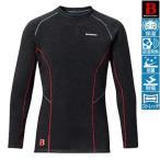 フィッシングウェア シマノ IN-020N ブレスハイパー+度 ストレッチアンダーシャツ(極厚タイプ) M ブラック