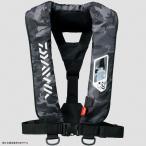 フローティングベスト ダイワ DF-2007 ウォッシャブルライフジャケット(肩掛けタイプ手動・自動膨脹式) フリー ブラックカモ