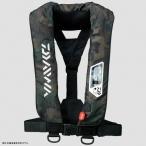 フローティングベスト ダイワ DF-2007 ウォッシャブルライフジャケット(肩掛けタイプ手動・自動膨脹式) フリー グリーンカモ