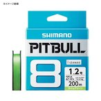 ルアー釣り用PEライン シマノ PL-M78S PITBULL(ピットブル) 8 300m 1.5号 ライムグリーン