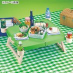 アウトドアテーブル キャプテンスタッグ ホルン ハンディーテーブル(カップ付) グリーン