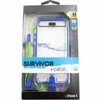 グリフィン Survivor(サバイバー・ウォータープルーフ) for iPhone 5/5s ブルー×クリア