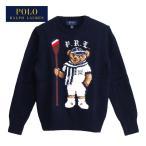 ラルフローレン キッズ ボーイズ ポロベアー ローイング クルーネック セーター/ネイビー POLO Ralph Lauren Kid's Boy's