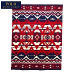 ショッピングブランケット ラルフローレン ポロ スロー ブランケット 127×178cm/ネイティブ柄/ネイビー POLO Ralph Lauren Throw Blanket