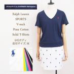 【メール便送料無料!】ラルフローレン スポーツ レディース コットン Vネック TシャツRalph Lauren SPORT V-neck T-ShirtsSALE/メール便可