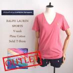 【メール便送料無料】OUTLET SALE 難あり ラルフローレン ピマコットン Vネック TシャツRalph Lauren T-shirt