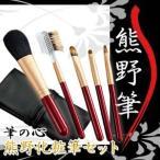 熊野化粧筆スターターセット 5本セット+専用ケース付き 筆の心 Kfi-R105 広島県熊野町日本製