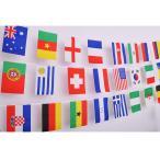 万国旗 ランダム 100連 25m セット パーティー 運動会 国際交流 イベントに 世界の国旗100枚