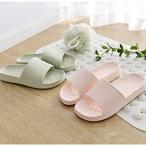 LiXiZhong スリッパカップルモデルバスルームスリッパ男性と女性の家庭用の家庭用木製の床バススリッパサンダル厚底滑り止めの靴 (色 :