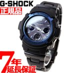 ショッピングShock ポイント最大16倍! G-SHOCK Gショック 電波ソーラー 腕時計 メンズ アナデジ ブラック×ブルー AWG-M100BC-2AJF