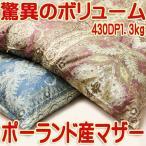 ショッピング西川 京都西川二層ダブル羽毛布団増量ポーランド産ホワイトマザーグース80超長綿