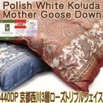 ショッピング西川 京都西川羽毛布団ポーランド産ホワイト・コーダ種マザーグース440DP