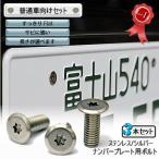 ナンバープレート用ボルト フラットタイプ ステンレス(シルバー) 3本 [ボルトのみ]