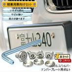 ナンバープレート用ボルト ピン・トルクスサラ ステンレス(シルバー) 4本 + 工具付セット
