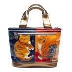 マンハッタナーズ manhattaner's サクサク2トートバッグ S シゲオとシゲオ (71-2000-DBR) 猫グッズ 猫雑貨 猫 ねこ ネコ バッグ