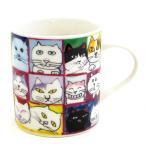 マンハッタナーズ(Manhattaner's) マグカップ 猫社会(77-0138-OTH) / 猫グッズ 猫雑貨