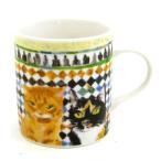 マンハッタナーズ(Manhattaner's) マグカップ コマレス宮のファサードと同調(77-0139-OTH) / 猫グッズ 猫雑貨