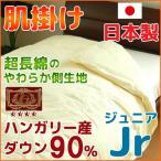 羽毛肌掛け布団 日本製 ジュニア ハンガリー産ダウン90% エクセルゴールド