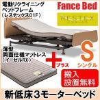 フランスベッド 電動 介護用ベッド マットレス付き レステックス01F/イーゼルRX シングル