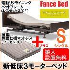 フランスベッド 電動 介護用ベッド マットレス付き レステックス02F/イーゼルRX シングル