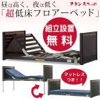 1セット限り 岡山県・鳥取県・広島県東部に限る 送料無料 組立設置無料 フランスベッド 超低床フロアーベッド FL-1402 専用マットレス付き