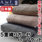 5重織りガーゼケット 100×140cm ハーフケット「エポカ」洗える 夏物(日本製)