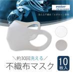 夏用 マスク 30回洗って使える エボロンの不織布マスク 10枚入り 日本製 【本気予防】