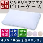Yahoo!眠りの神様 ヤフーショップ枕カバー 70×43 西川 ひんやり 接触涼感 エラクールBB サラサラ ファイネックス ピローケース