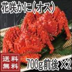花蟹 - 花咲蟹(オス) 700g前後×2尾  カニ かに  送料無料