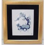 マイセン「陶板画」ブルーオーキット