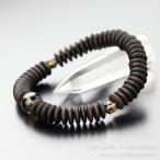数珠 ブレスレット 54平珠 縞黒檀 茶水晶