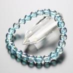 パワーストーン 数珠 ブレスレット 8ミリ オーラ(青)