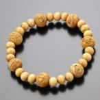 数珠ブレスレット 七福神彫り 柘植 木製