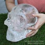 彫り物・カービング ドクロ 天然水晶 レインボー 置き物 約8460グラム