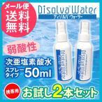 次亜塩素酸水 除菌 スプレー お試し2本セット 携帯用 ディゾルバウォーター(メール便送料無料)