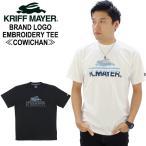 クリフメイヤー KRIFF MAYER  ブランド ロゴ 刺繍 カウチン Tシャツ 半袖 メンズ 男性[AA-2]