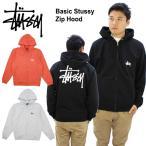 ステューシー STUSSY Basic Stussy Zip Hood プルオーバーパーカー メンズ 男性用[AA]