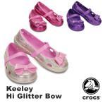 クロックス(CROCS) キーリー ハイ グリッター ボウ(keeley hi glitter bow) 子供用
