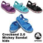 ショッピングcrocband クロックス(CROCS) クロックバンド 2.0 ミッキー サンダル キッズ(crocband 2.0 Mickey sandal kids) サンダル/ディズニー